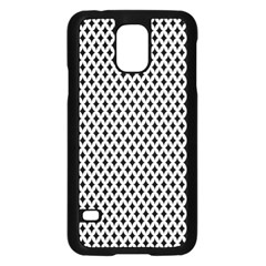 Diamond Black White Shape Abstract Samsung Galaxy S5 Case (Black)