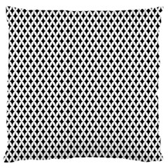 Diamond Black White Shape Abstract Large Flano Cushion Case (Two Sides)