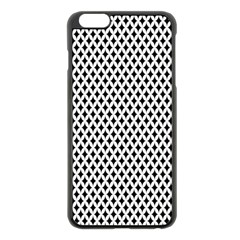 Diamond Black White Shape Abstract Apple iPhone 6 Plus/6S Plus Black Enamel Case