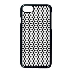 Diamond Black White Shape Abstract Apple iPhone 7 Seamless Case (Black)