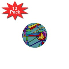 Abstract machine 1  Mini Buttons (10 pack)