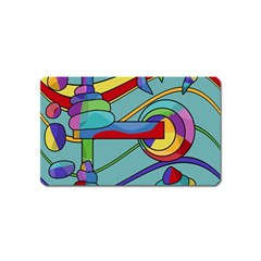 Abstract machine Magnet (Name Card)