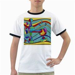 Abstract machine Ringer T-Shirts