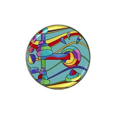 Abstract machine Hat Clip Ball Marker (10 pack)