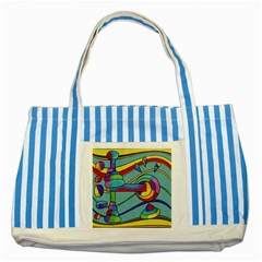 Abstract machine Striped Blue Tote Bag