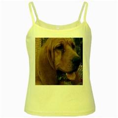 Bloodhound  Yellow Spaghetti Tank