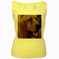 Bloodhound  Women s Yellow Tank Top