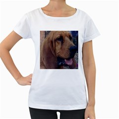 Bloodhound  Women s Loose-Fit T-Shirt (White)