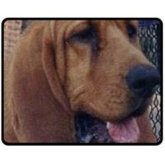 Bloodhound  Double Sided Fleece Blanket (Medium)