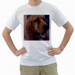 Bloodhound  Men s T-Shirt (White)
