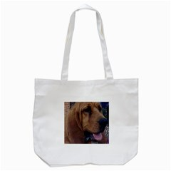 Bloodhound  Tote Bag (White)
