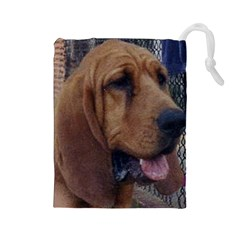 Bloodhound  Drawstring Pouches (Large)
