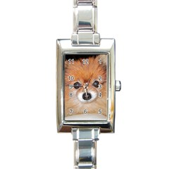 Pomeranian Rectangle Italian Charm Watch