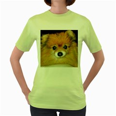 Pomeranian Women s Green T-Shirt