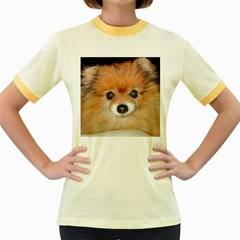 Pomeranian Women s Fitted Ringer T-Shirts