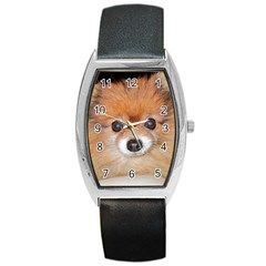 Pomeranian Barrel Style Metal Watch