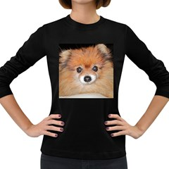 Pomeranian Women s Long Sleeve Dark T-Shirts