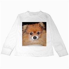 Pomeranian Kids Long Sleeve T-Shirts