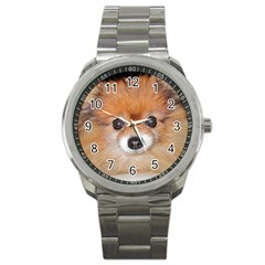 Pomeranian Sport Metal Watch