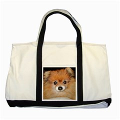 Pomeranian Two Tone Tote Bag