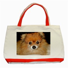 Pomeranian Classic Tote Bag (Red)