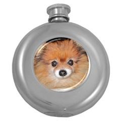 Pomeranian Round Hip Flask (5 oz)