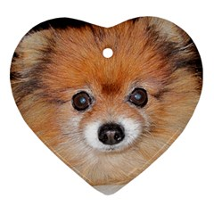 Pomeranian Heart Ornament (2 Sides)