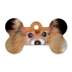 Pomeranian Dog Tag Bone (Two Sides)
