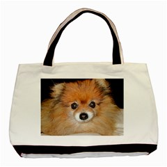 Pomeranian Basic Tote Bag (Two Sides)