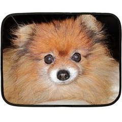 Pomeranian Double Sided Fleece Blanket (Mini)