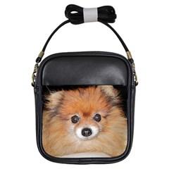 Pomeranian Girls Sling Bags