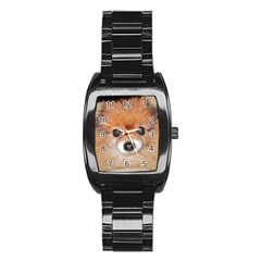 Pomeranian Stainless Steel Barrel Watch