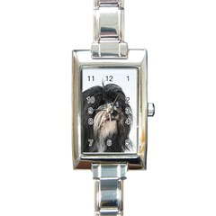 Tibet Terrier  Rectangle Italian Charm Watch