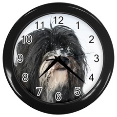 Tibet Terrier  Wall Clocks (Black)