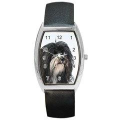 Tibet Terrier  Barrel Style Metal Watch