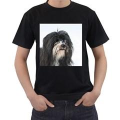 Tibet Terrier  Men s T-Shirt (Black) (Two Sided)