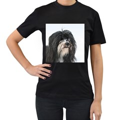 Tibet Terrier  Women s T-Shirt (Black) (Two Sided)