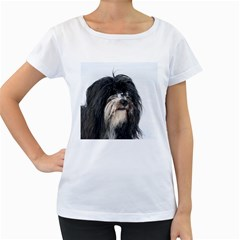 Tibet Terrier  Women s Loose-Fit T-Shirt (White)