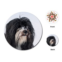 Tibet Terrier  Playing Cards (Round)