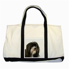 Tibet Terrier  Two Tone Tote Bag