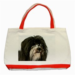 Tibet Terrier  Classic Tote Bag (Red)