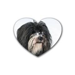 Tibet Terrier  Rubber Coaster (Heart)