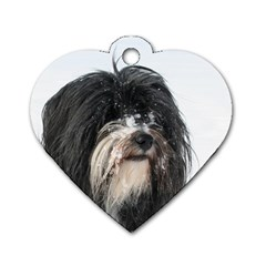 Tibet Terrier  Dog Tag Heart (Two Sides)