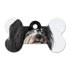 Tibet Terrier  Dog Tag Bone (Two Sides)