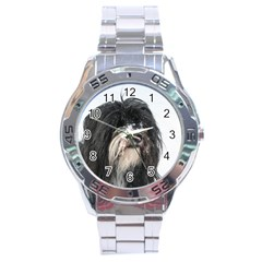 Tibet Terrier  Stainless Steel Analogue Watch