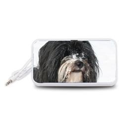 Tibet Terrier  Portable Speaker (White)