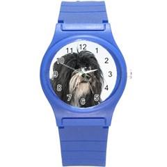 Tibet Terrier  Round Plastic Sport Watch (S)