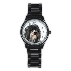 Tibet Terrier  Stainless Steel Round Watch