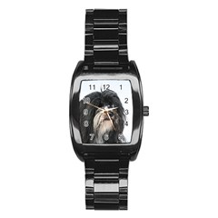 Tibet Terrier  Stainless Steel Barrel Watch