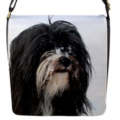 Tibet Terrier  Flap Messenger Bag (S)
